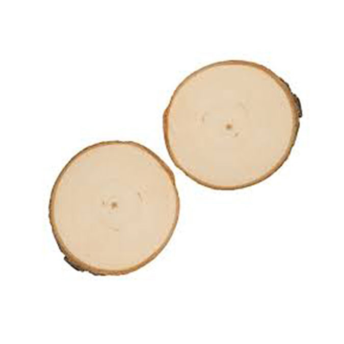 Rondelle de peuplier Ø 9 à 10 cm 2 pcs
