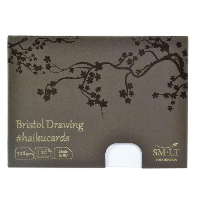 Carte Haïku papier Bristol 308 g/m² x 24 F 14,7 x 10,6 cm