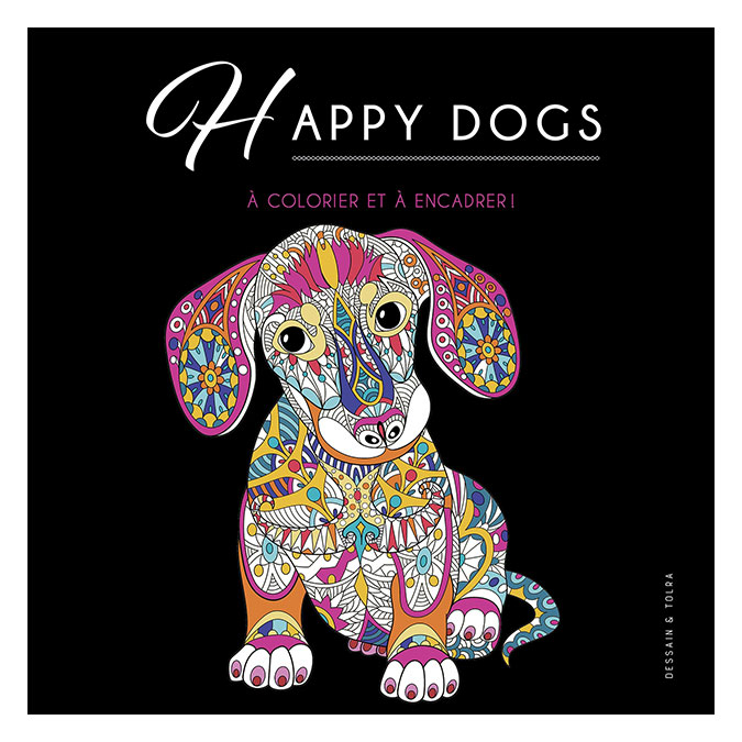 Illustrations à colorier Happy dogs !