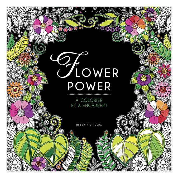 Illustrations à colorier Flower Power