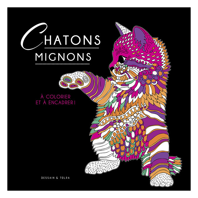 Illustrations à colorier Chatons mignons