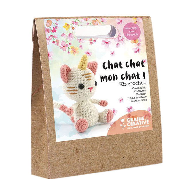 Kit de crochet animal Chat-licorne