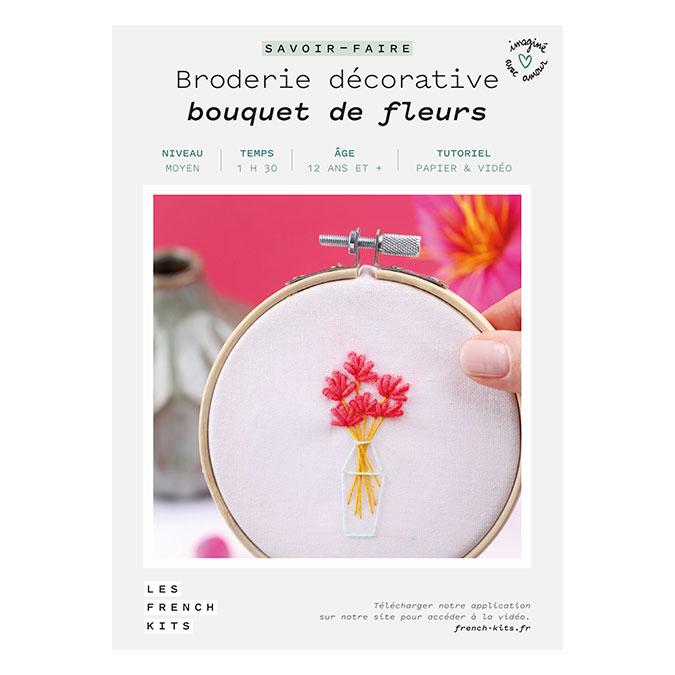 Kit savoir-faire Broderie décorative bouquet de fleurs