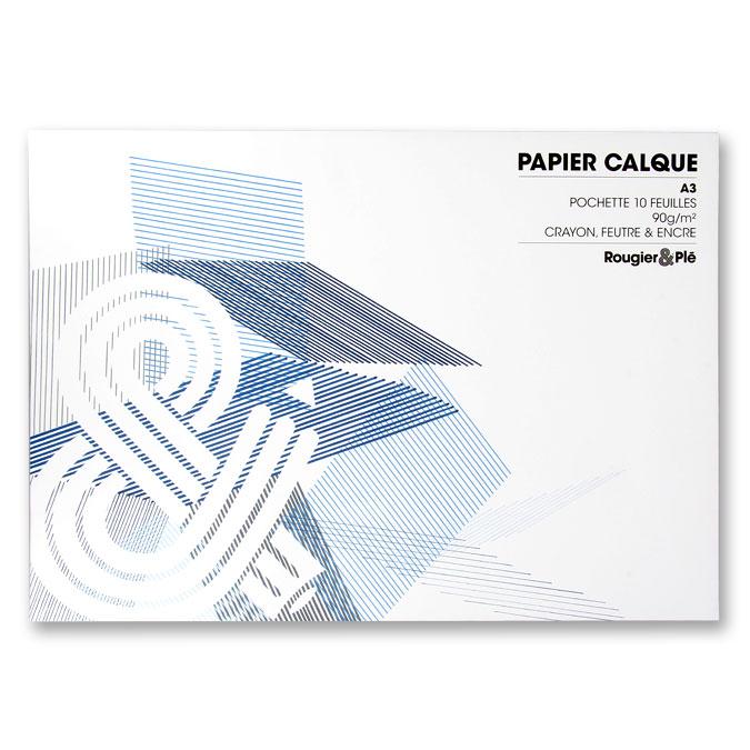 Papier calque 90 g A3 - pochette de 10 feuilles
