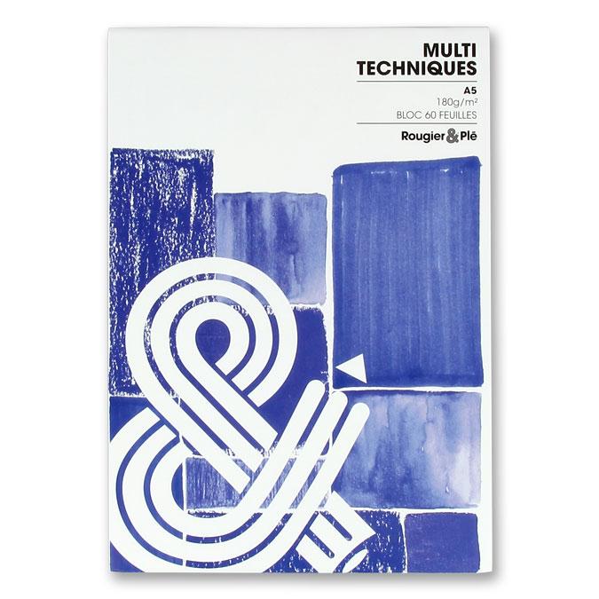 Bloc multi-techniques 180 g/m² 60 feuilles A5