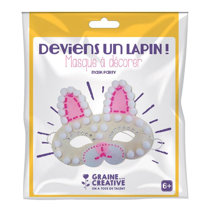 Masque en feutrine kit Lapin