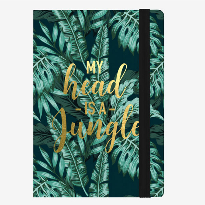 Carnet medium ligné jungle