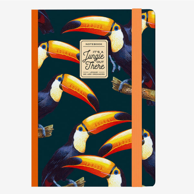 Carnet medium ligné toucan