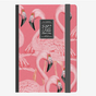 Carnet medium ligné flamant rose