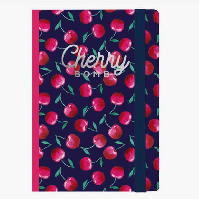 Carnet medium ligné cherry bomb