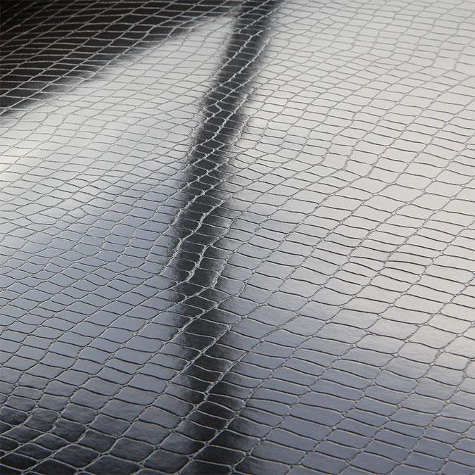 Papier Création 50 x 65 cm 250 g/m² Croco noir brillant