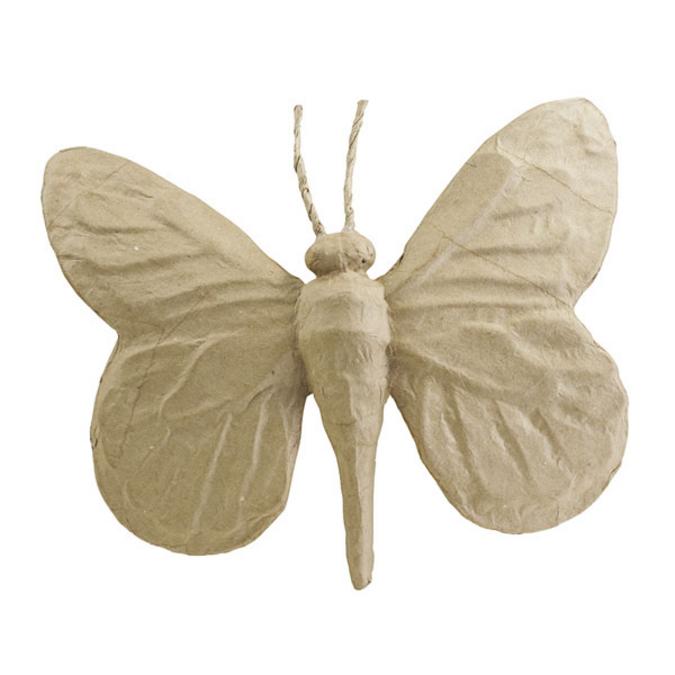 Papillon en papier mâché 25 x 19 cm
