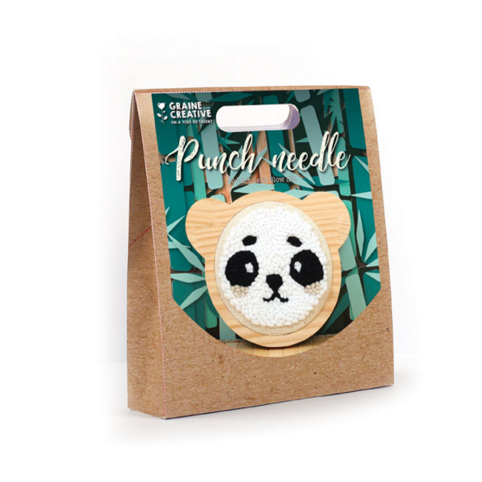 Kit de punch needle Panda