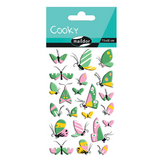Stickers 3D Cooky papillons x 22 pcs