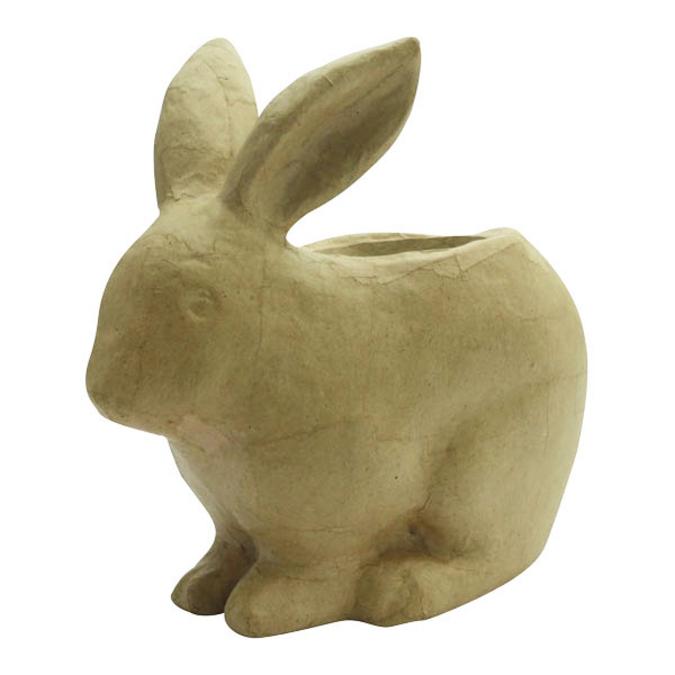 Cache pot lapin en papier mâché 19 x 10 x 18,5 cm