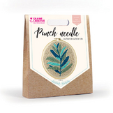 Punch needle kit feuillage
