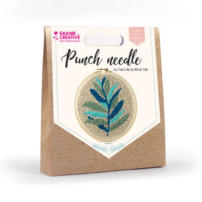 Punch needle kit feuillage