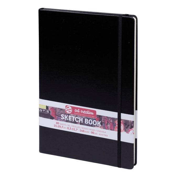 Carnet de croquis Noir 140 g/m² 80 feuilles