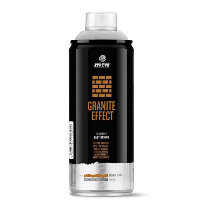 Peinture en spray MTN Pro effet granit noir 400 ml