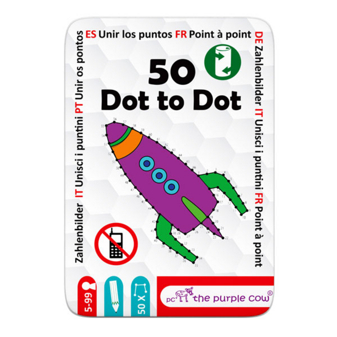 Jeu de voyage 50 cartes points à relier