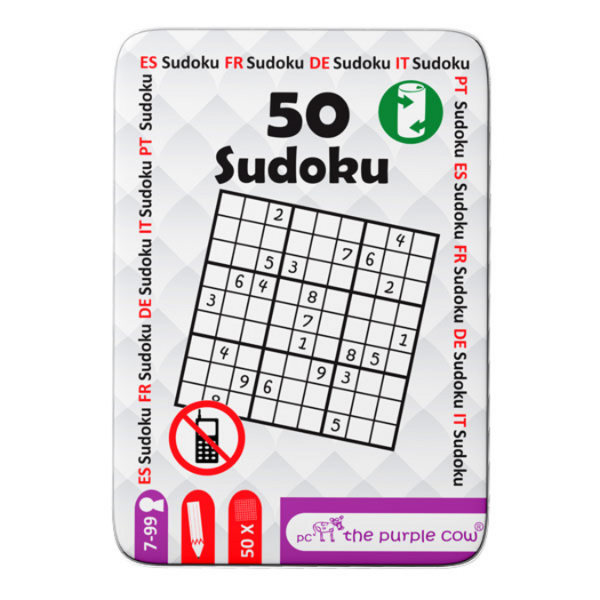 Jeu de voyage 50 cartes sudoku