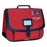 Cartable 38 cm Les Fantaisies Tom Rouge