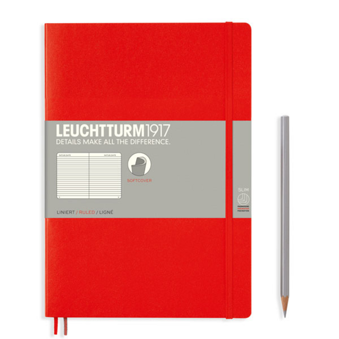 Carnet de notes souple B5 17,8 x 25,4 cm Violet Port Red