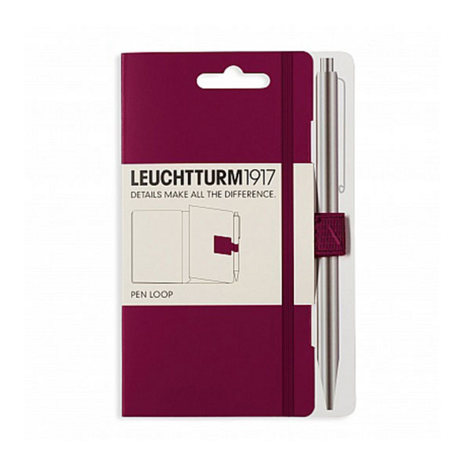 Attache stylo pour carnet Pen Loop Violet Port Red