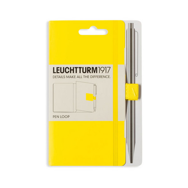 Attache stylo pour carnet Pen Loop Citron