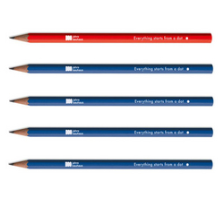 Crayon HB Limited Edition Bauhaus Assortiment 4 Bleu Roi 1 Rouge
