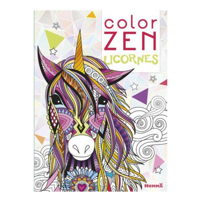 Album de coloriage Color Zen Licornes