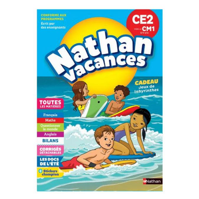 Cahier de vacances primaire CE2 vers le CM1 8/9 ans