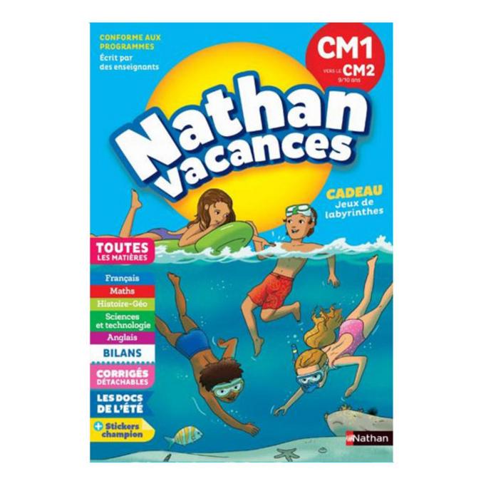 Cahier de vacances primaire CM1 vers le CM2 9/10 ans