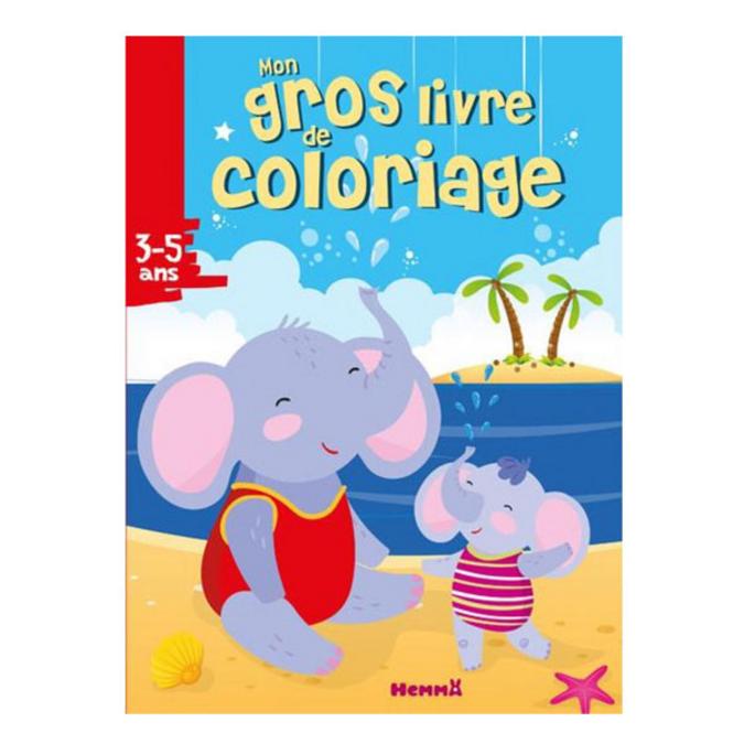 Mon gros livre de coloriage Eléphant plage 3/5 ans
