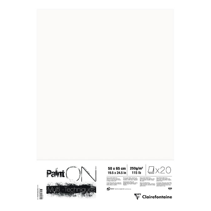 Papier Paint'On à Grain 50 x 65 cm 250 g/m² Rame 10 feuilles