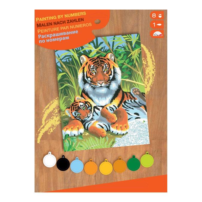 Peinture par numéro débutant Tigres