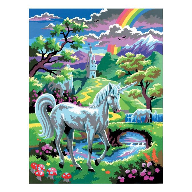 Peinture par numéro débutant Licorne au pays des fées
