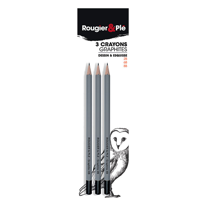 Crayon graphite Set 2B - 6B - 8B