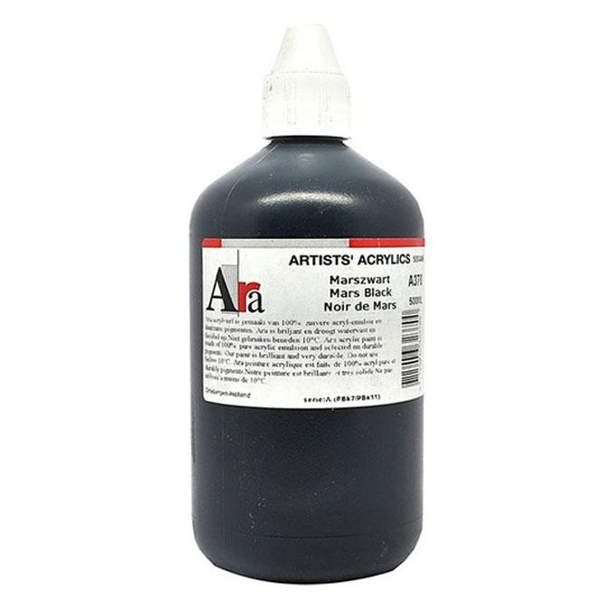 Peinture acrylique Extra-fine 500 ml Noir de Mars