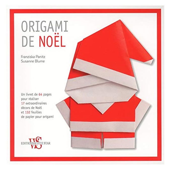 Livre Origami de Noël + 132 feuilles d'origami