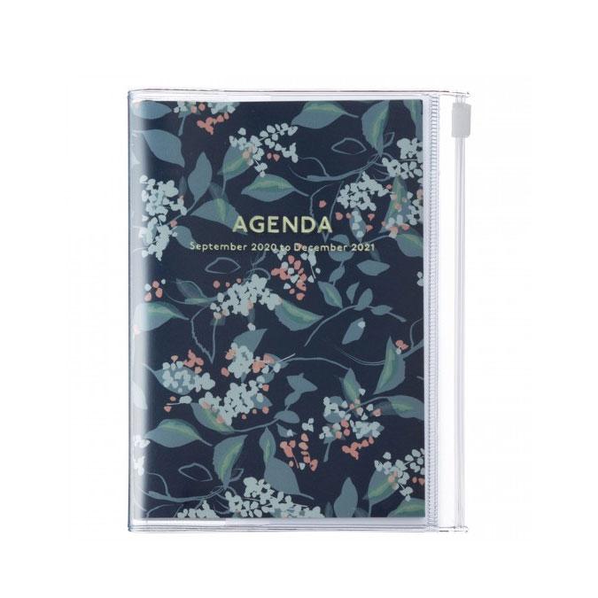 Agenda semainier 2021 Bleu flower format A6