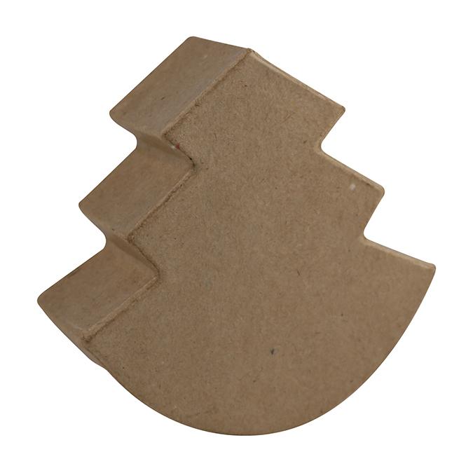 Sapin à bascule en papier mâché 12 cm