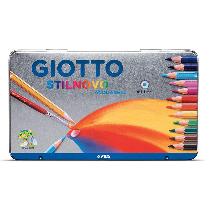 Crayon de couleur Aquarell Boîte métal 12 couleurs