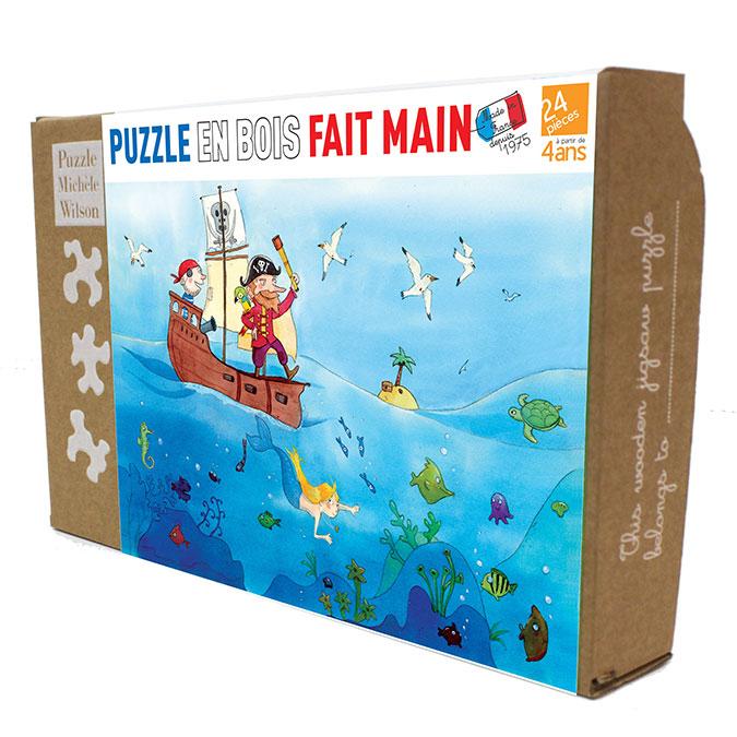 Puzzle en bois Les Pirates 24 pièces