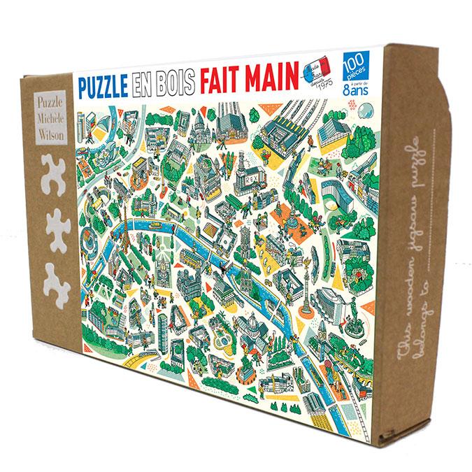 Puzzle en bois Paris labyrinthes 100 pièces