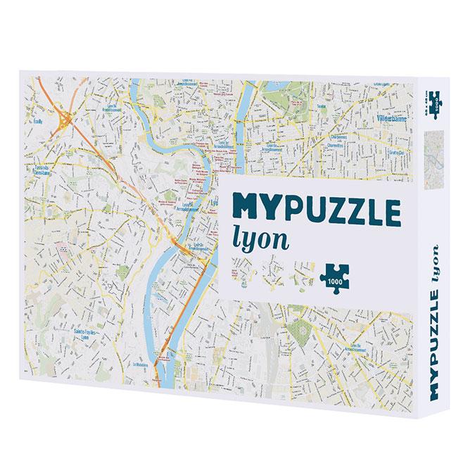 Puzzle plan de Lyon