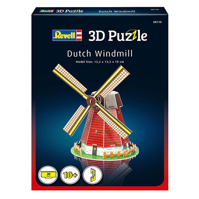 Puzzle 3D Moulin à vent hollandais