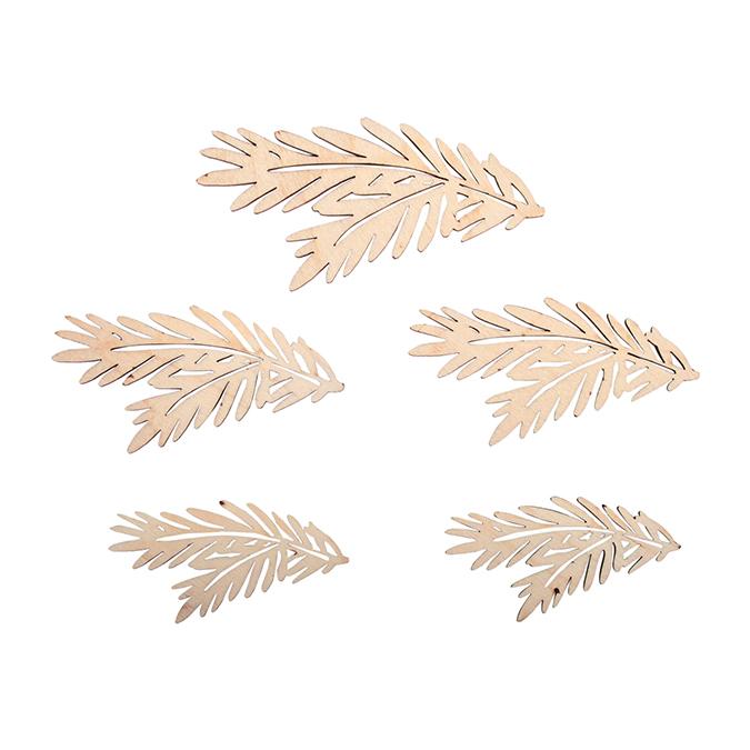 Branches de sapin en bois 5 pcs