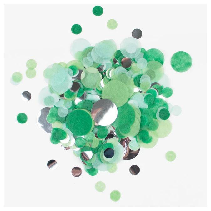 Confettis Ø 2.3 cm Vert Argent