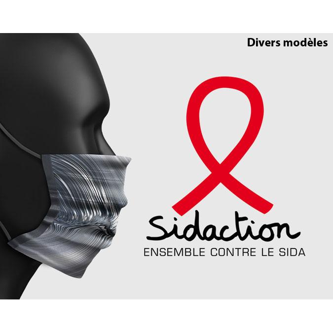 Masque Collection Marie-Agnès Gillot pour Sidaction Sacrée Frangine